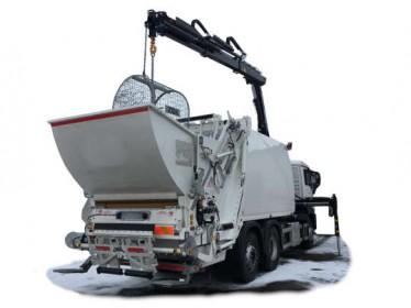 Śmieciarka z żurawiem do obsługi pojemników podziemnych i półpodziemnych